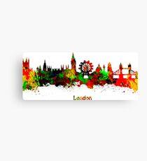 London watercolor skyline Canvas Print