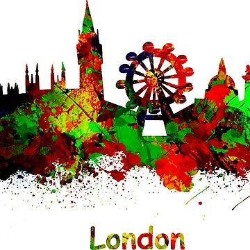 London watercolor skyline by chris2766