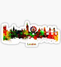 London watercolor skyline Sticker