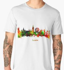 London watercolor skyline Men's Premium T-Shirt