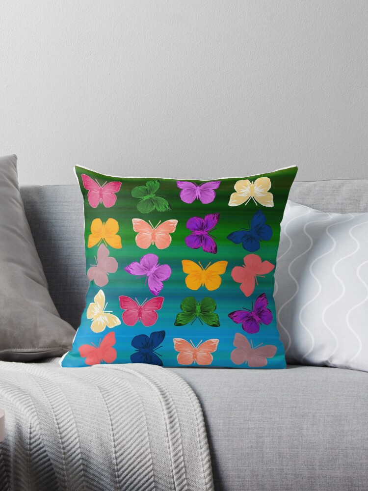 Beautiful Cushions/ Animals/ Butterfly Love 2 by ozcushionstoo