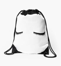 eye lashes Sticker Drawstring Bag