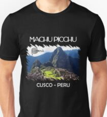 Machu Picchu Peru Lama Cusco Slim Fit T-Shirt