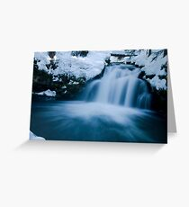 Snowy Whitehorse Falls on Clearwater Creek # 2 Greeting Card
