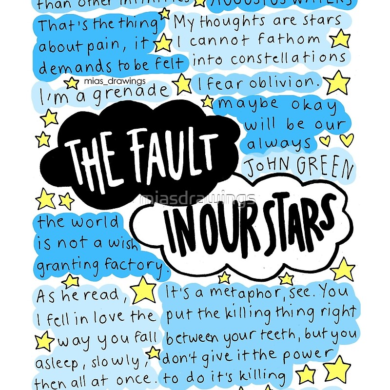 "Quotes From The Fault In Our Stars: ""The Fault In Our Stars Quotes Collage"" Tote Bags By"