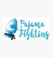 Pajama Fighting Photographic Print