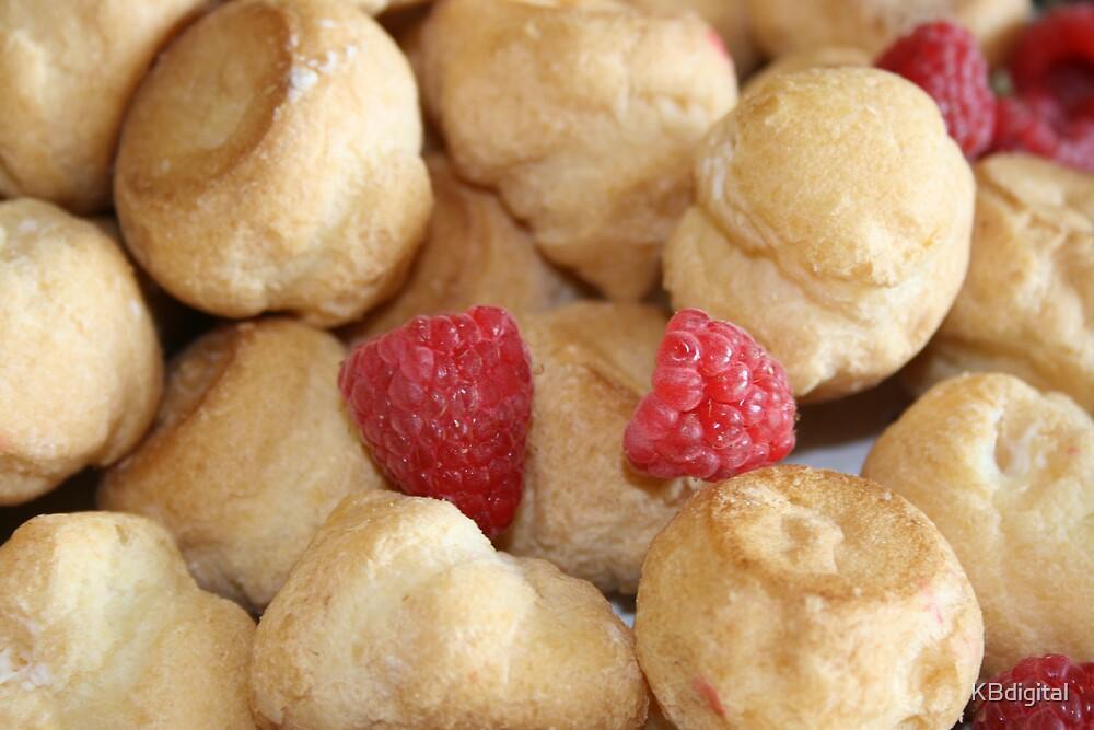 Raspberry Creme Puffs by KBdigital