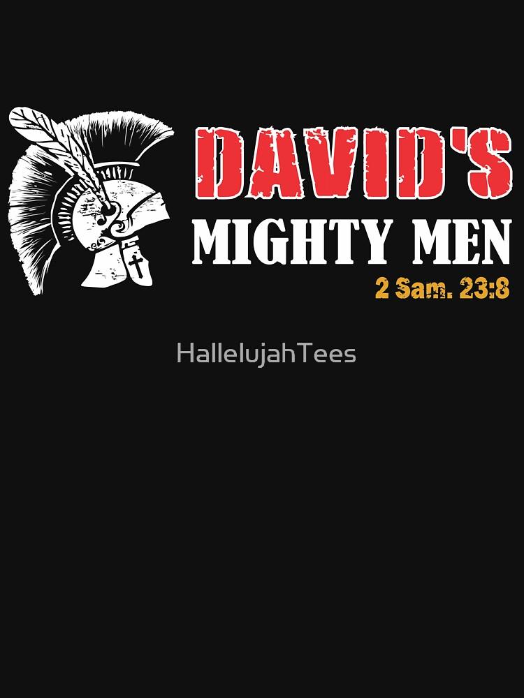 Christian David Mighty Men by HallelujahTees