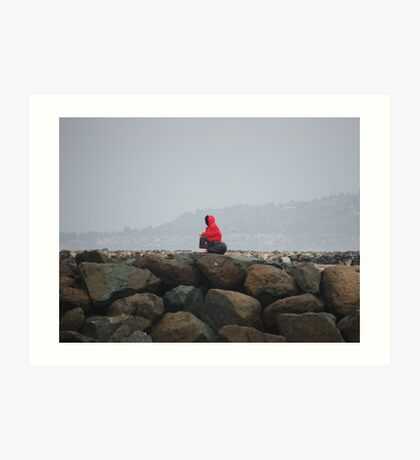 Musing On The Jetties Art Print