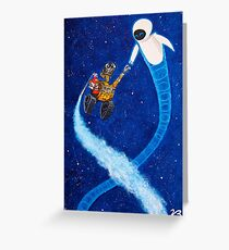 Wall-e and Eve painting Greeting Card