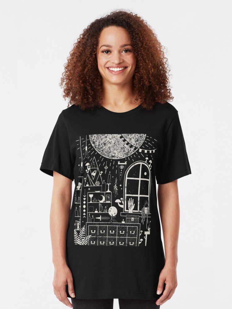 Alternate view of Moon Altar Slim Fit T-Shirt
