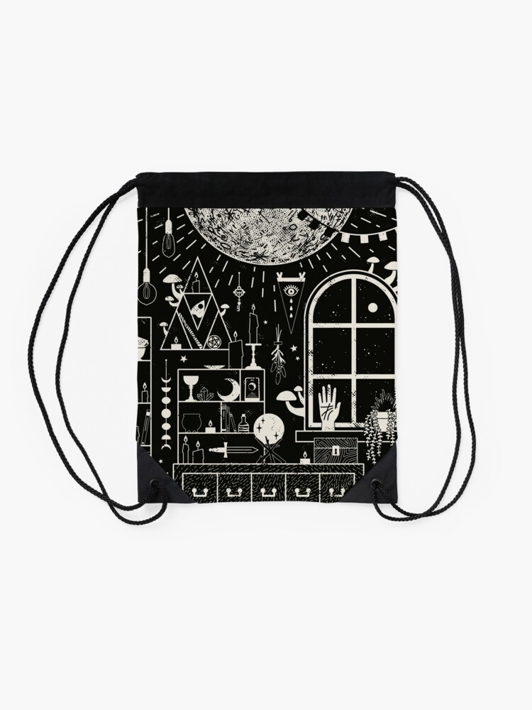 Alternate view of Moon Altar Drawstring Bag