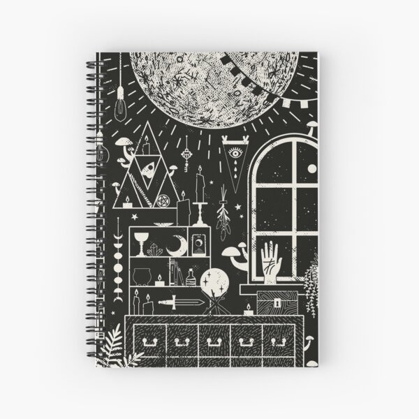 Moon Altar Spiral Notebook