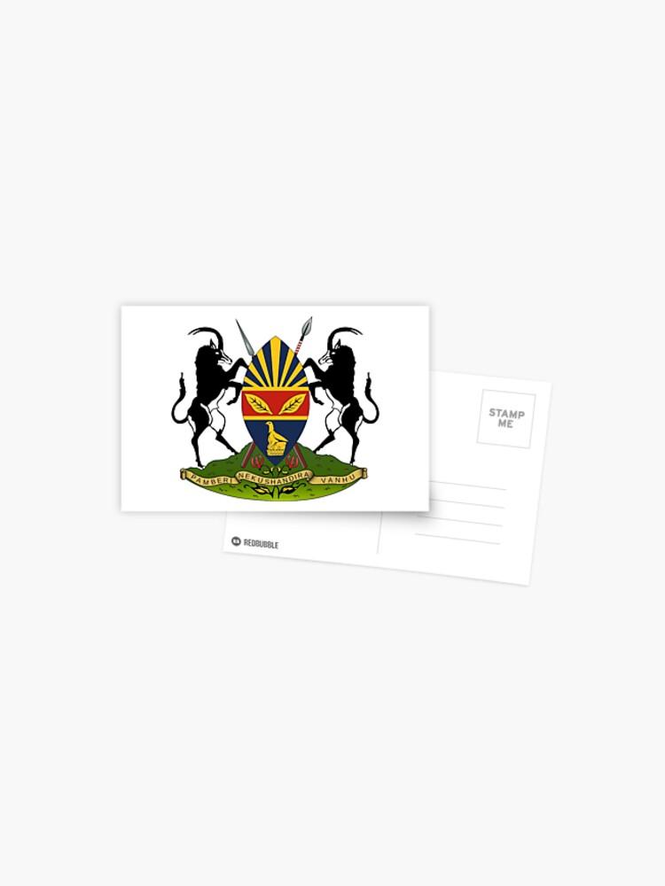 Harare Coat Of Arms Zimbabwe Postcard By Tonbbo Redbubble