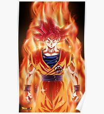 Dragon Ball - Goku Super Saiyan God (Red) Poster