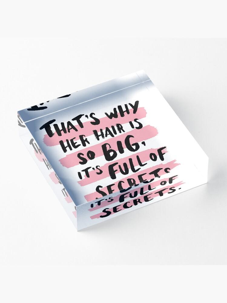 Alternate view of It's Full Of Secrets Acrylic Block
