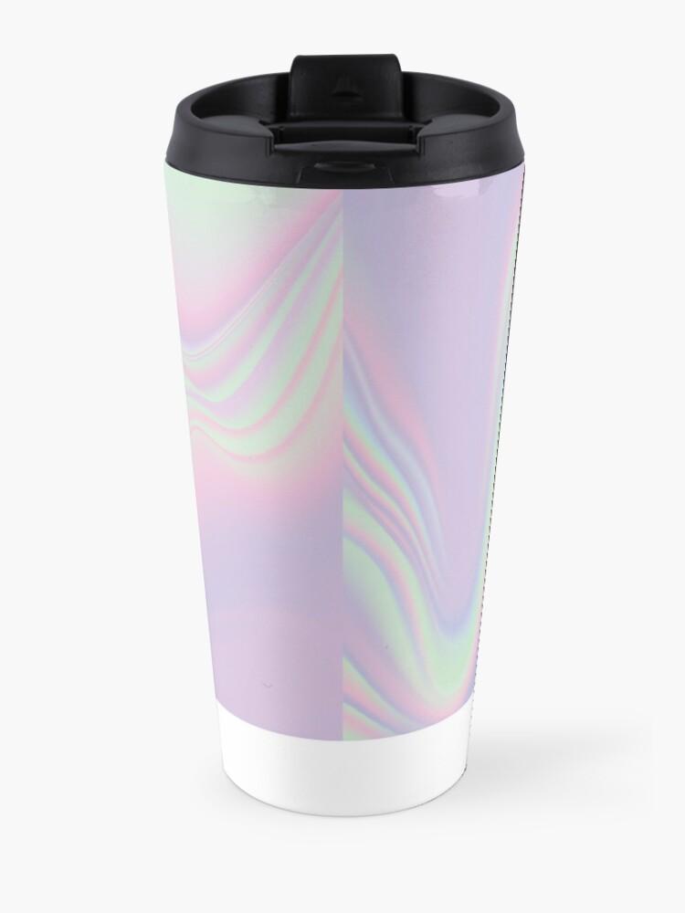 Alternate view of H.I.P.A.B - Holographic Iridescent Pantone Aesthetic Background Travel Mug