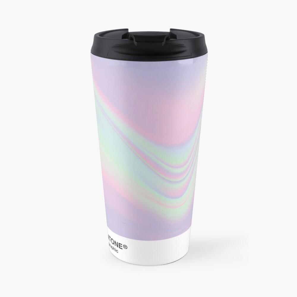 H.I.P.A.B - Holographic Iridescent Pantone Aesthetic Background Travel Mug