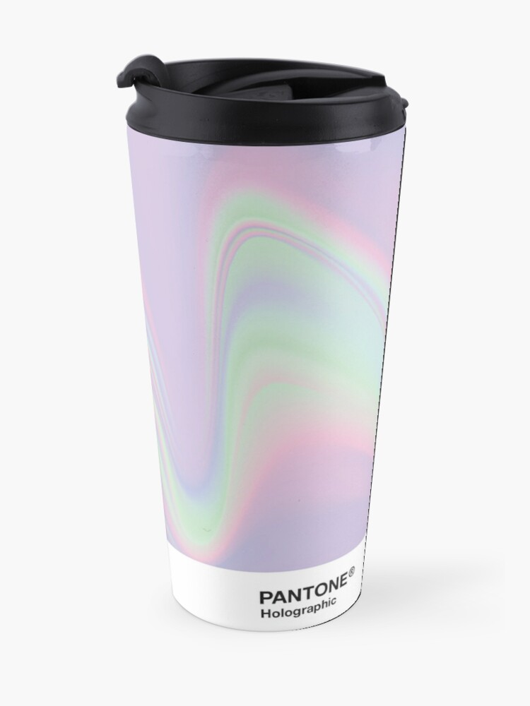 Alternate view of H.I.P.A.B - Holographic Iridescent Pantone Aesthetic Background Travel Mug