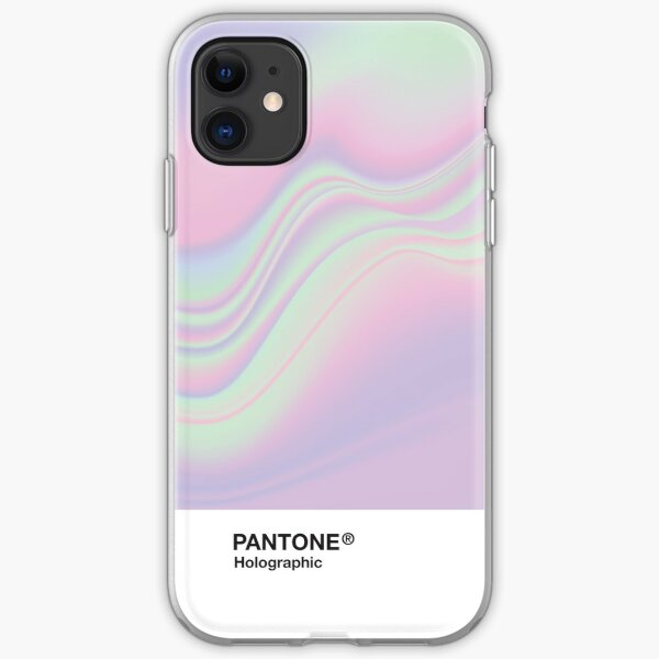 HIPAB - Fondo estético holográfico iridiscente Pantone Funda blanda para iPhone