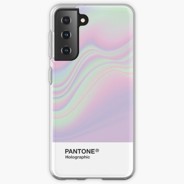 H.I.P.A.B - Holographic Iridescent Pantone Aesthetic Background Samsung Galaxy Soft Case
