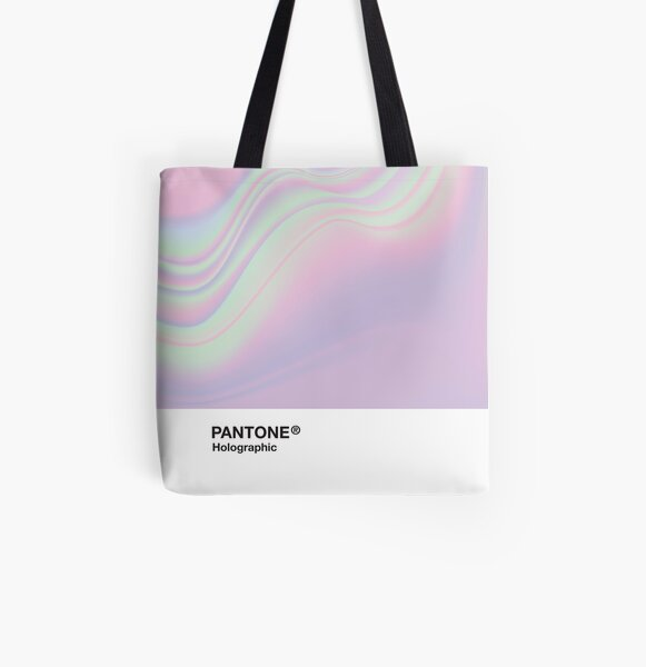 H.I.P.A.B - Holographic Iridescent Pantone Aesthetic Background All Over Print Tote Bag