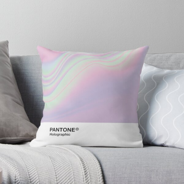 H.I.P.A.B - Holographic Iridescent Pantone Aesthetic Background Throw Pillow