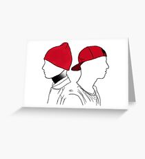 Tyler and Josh Side portrait Greeting Card