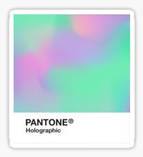 H.I.P.A.B - Holographic Iridescent Pantone Aesthetic Background pt 2 Sticker