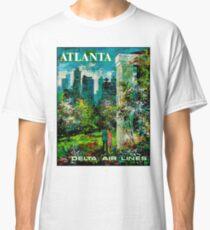 DELTA AIR LINES : Vintage Fly to Atlanta Print Classic T-Shirt