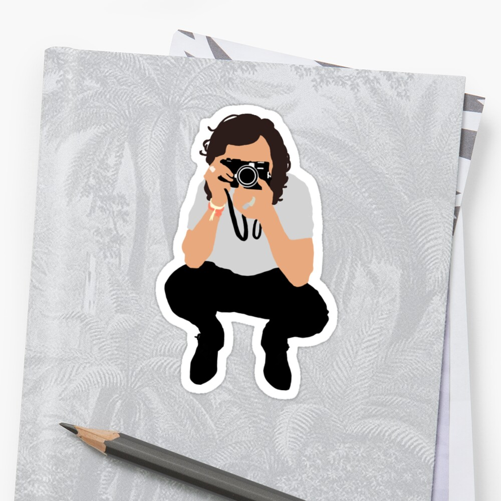Quot Harry Styles Vector Illustration Photograph Quot Sticker By