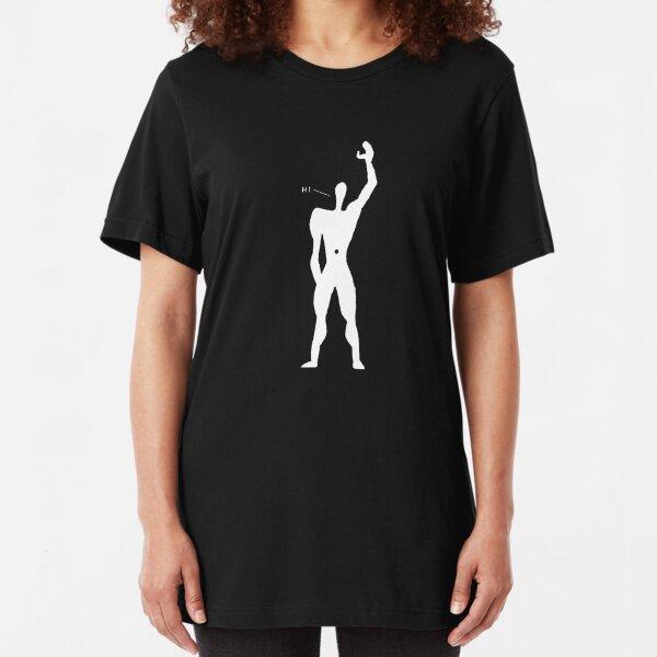 Le Corbusier - The Friendly Modular Man for dark clothing Slim Fit T-Shirt