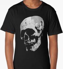 Skull - Cool Grunge Texture Skull Long T-Shirt