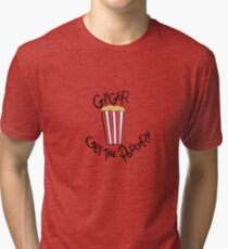 West Wing Ginger Get the Popcorn Tri-blend T-Shirt