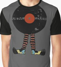 Funny Vinyl Records Lover - Grunge Vinyl Record Graphic T-Shirt
