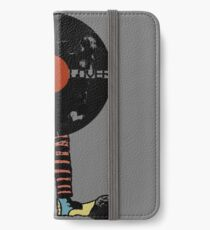 Funny Vinyl Records Lover - Grunge Vinyl Record iPhone Wallet/Case/Skin