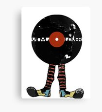 Funny Vinyl Records Lover - Grunge Vinyl Record Canvas Print