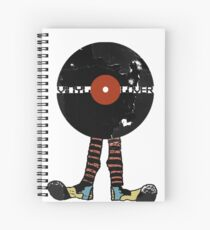 Funny Vinyl Records Lover - Grunge Vinyl Record Spiral Notebook