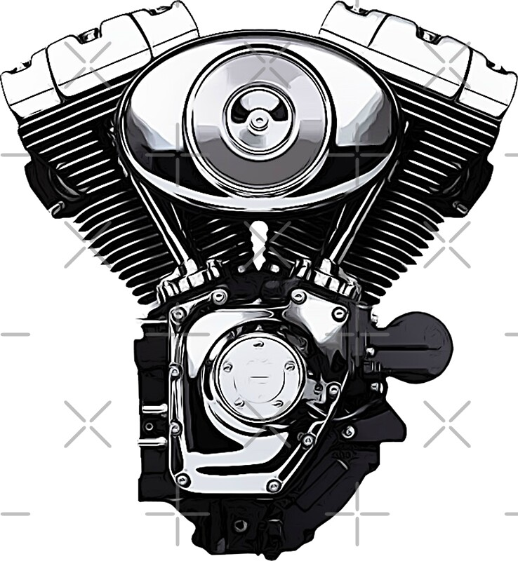 V Twin Quad Engine: Pegatinas «Motor V-Twin» De Biggeek