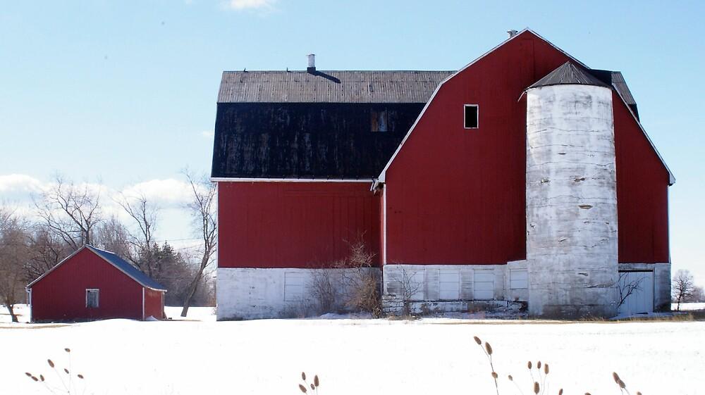 Red Barn by Wanda Sewell-Robinson