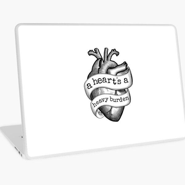 A Heart's A Heavy Burden - ANATOMICAL Laptop Skin