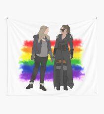 Clexa - Rainbow flag Wall Tapestry
