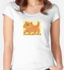 A happy little kitten Women's Fitted Scoop T-Shirt