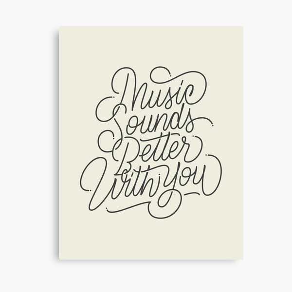 MUSIC - Hand Lettering Canvas Print