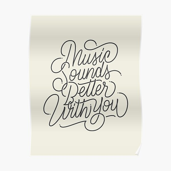 MUSIC - Hand Lettering Poster