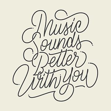MUSIC - Hand Lettering by Fishtaco
