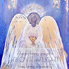 Angel of Love and Light I (Golden Wings) by nelinda