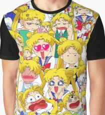 Usagi's faces Graphic T-Shirt