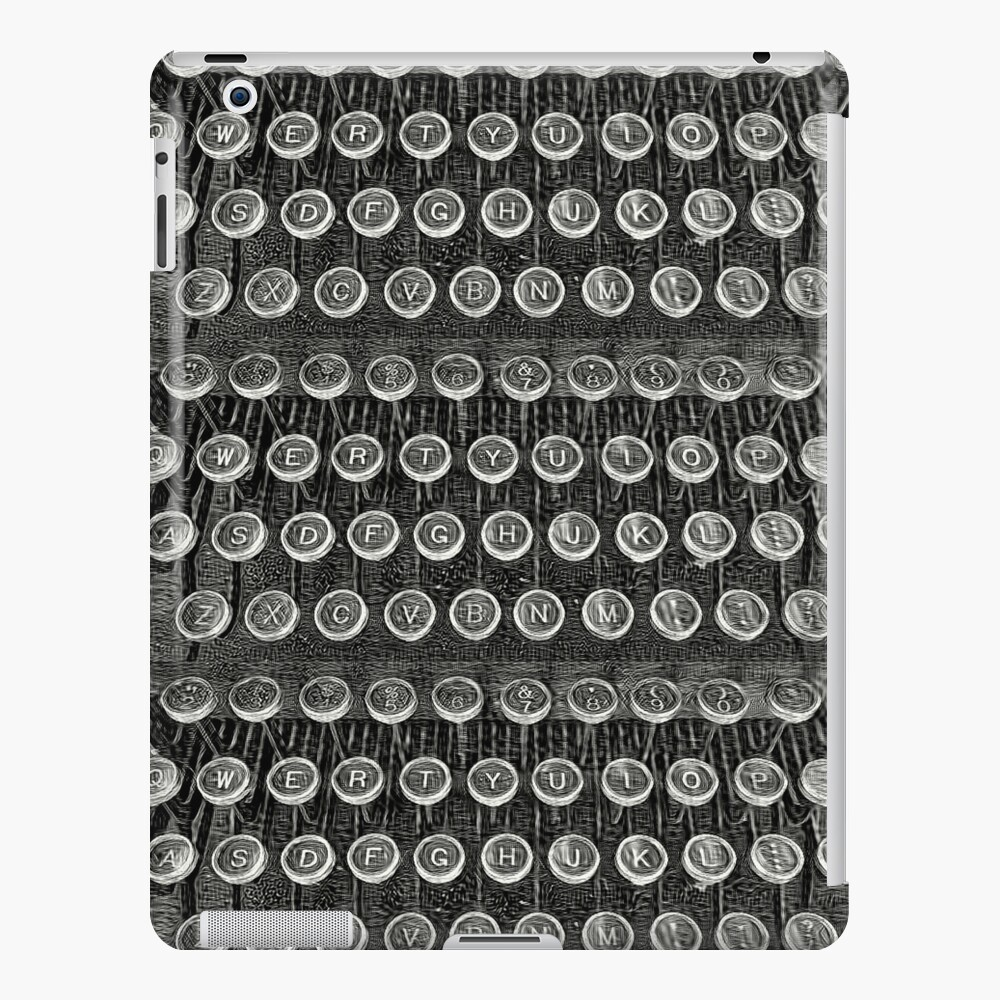 Typewriter Keys-Vintage Typewriter-Royal Typewriter-Writer Pearl S. Buck iPad Case & Skin