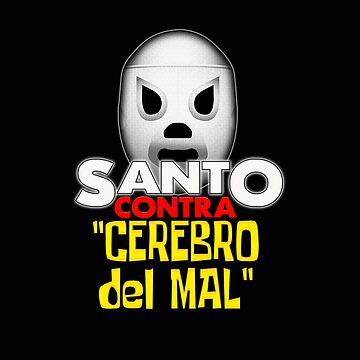 Santo Vs The Evil Brain Lucha Movie T-Shirt by bestofbad